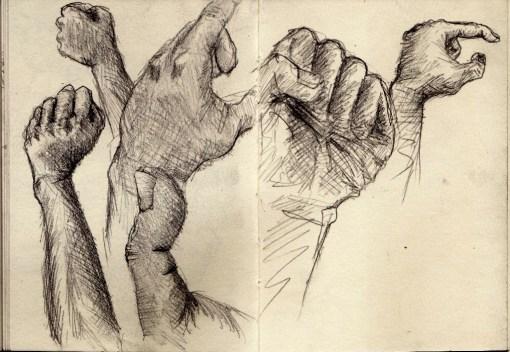 sketching my own hand 2 (dok. Arkanhendra)